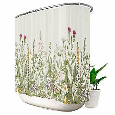 wild flower shower curtain extra wide 108x72