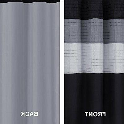 Comfort – Windsor Shower Curtain Black Grey Panel