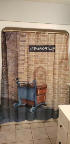 Ambesonne Wizard Shower Curtain  set kings cross harry potte
