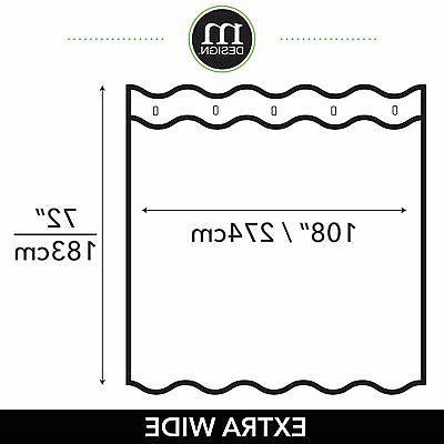 mDesign Waffle Weave Fabric Shower Curtain -