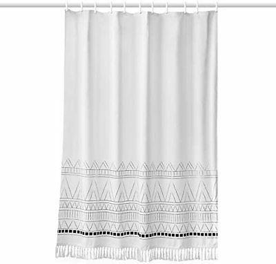 YoKii Shower Curtain, 96 Extra Long Striped Bathroom Sho