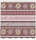 Zambia Pattern Shower Curtain Fabric Decor Set with Hooks 4