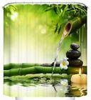 Zen Garden Bamboo Spa Fabric Shower Curtain Waterproof with
