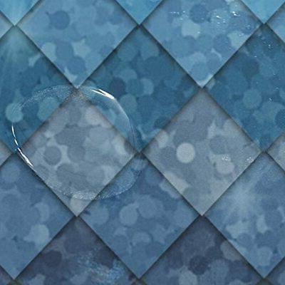 ZOEO Ocean Blue Mermaid Fish Scales Geometric