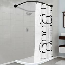 L Shape Stainless Steel Shower Curtain Rod Adjustable 35''-5