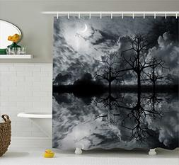Ambesonne Landscape Shower Curtain, 3D Graphic Fantasy Land