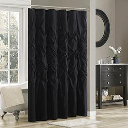Madison Park Laurel Shower Curtain Black 72x72""