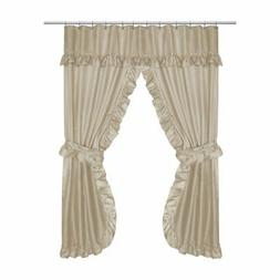 Carnation Home Fashions Lauren Double Swag Polyester Shower