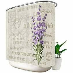 Lavender Vintage Shower Curtain 108x72 Inch 18 Pack Metal Ho