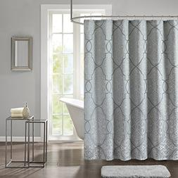Madison Park LaVine Design Blue Shower Curtain, Jacquard Cla