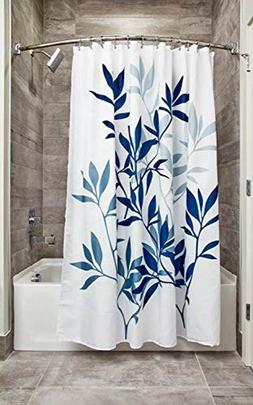 InterDesign Leaves Fabric Bathroom Shower Curtain, 72 x 72 I