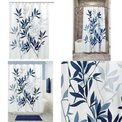 InterDesign Leaves Fabric Bathroom Shower Curtain 72 x 72 In