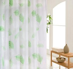 Wimaha Green Shower Curtain, Leaves Shower Curtain Liner Pla