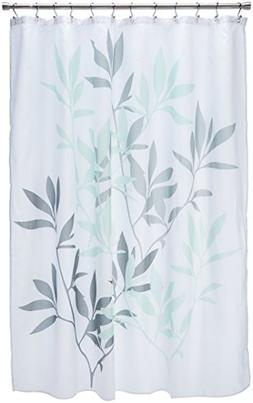 InterDesign 35603 Leaves Fabric Shower Curtain - Standard, 7