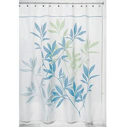 InterDesign Leaves X-Long Shower Curtain, Green, 72-Inch by