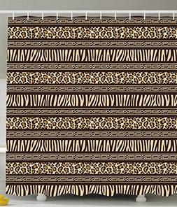 Ambesonne Leopard Print Shower Curtain Primitive Decor by, A