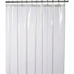 LiBa Mildew Resistant Anti- Bacterial PEVA 8G Shower Curtain