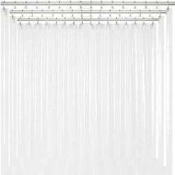 Liba PEVA Antimicrobial PVC Free Shower Curtain Liner, Frost