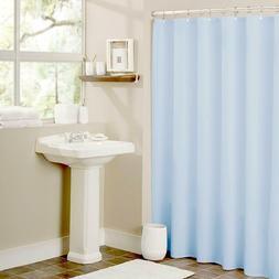 Light Blue Heavy Duty Magnetized Shower Curtain Liner Mildew