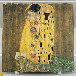 LitLife Shower Curtain For Bathroom Gustav Klimt The Kiss Wa