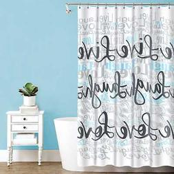 live laugh love polyester fabric shower curtain