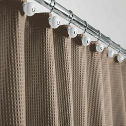"mDesign LONG Waffle Weave Fabric Shower Curtain - 84"" Long -"