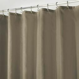 mDesign LONG Water Repellent Fabric Shower Curtain/Liner, 72