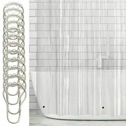 mDesign LONG Waterproof Vinyl Shower Curtain Liner with Ring