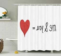 Ambesonne Love Quote Affection Romance Shower Curtain Set