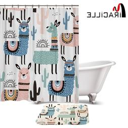 Miracille Lovely Cartoon Alpaca Pattern Polyester Waterproof