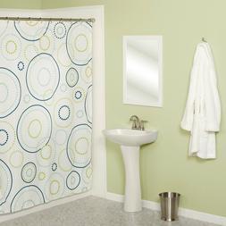 Luna Geometric Fabric Shower Curtain Polyester Circles Desig
