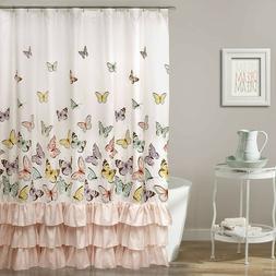 Lush Decor Lush Décor Flutter Butterfly Shower Curtain, 72