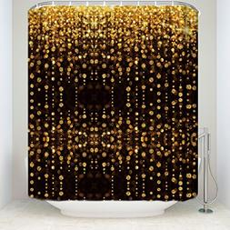 Z&L Home Luxury Bling Shower Curtains Warm Lights Celebratio