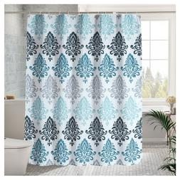 "Luxury Fabric shower Curtain Blue European Pattern  72""x72"""