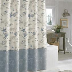 DS BATH Madamoiselle Seashell Shower Curtain,Waterproof Poly