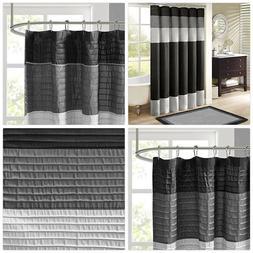 Madison Park MP70-246 Amherst Shower Curtain 72x72 Black