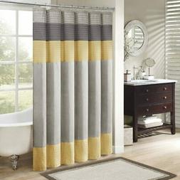 """Madison Park MP70-2489 Amherst Shower Curtain 72x72"""" Yellow,"""
