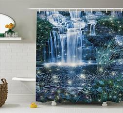 Ambesonne Magic Home Decor Shower Curtain, Fairy Fantastic W
