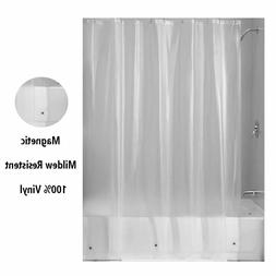 Magnetic Mildew Resistant Shower Curtain Liner 100% Vinyl Cl