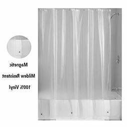 Magnetic Mildew Resistant Shower Curtain Liner 100% Vinyl He