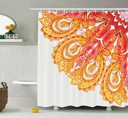 mandala decor shower curtain