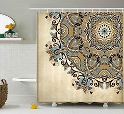 Ambesonne Mandala Shower Curtain by, Ethnic Indian Flower Ci