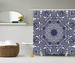 Ambesonne Mandala Shower Curtain Long Decor by, Circular Pat