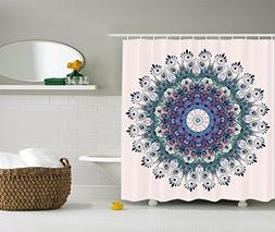 Ambesonne Mandala Shower Curtain Peacock Feather Decor by, B