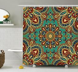 Ambesonne Mandala Shower Curtain, Pattern with Mandala Style