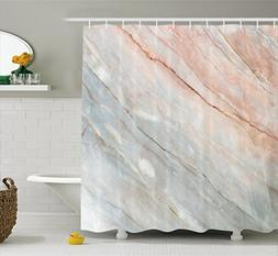 Ambesonne Marble Shower Curtain, Onyx Stone Textured Natural