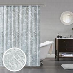 Comfort Spaces Marble - Designer Bath Shower Curtain - Gray