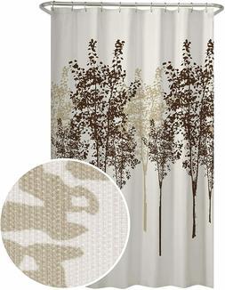 MAYTEX Delaney Tree Fabric Shower Curtain, 70X72, Chocolate