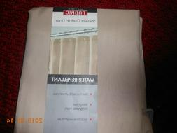 MAYTEX FABRIC SHOWER CURTAIN LINER..WATER REPELLANT BEIGE