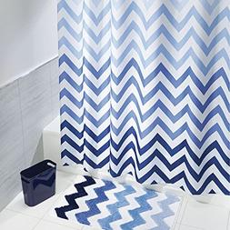 mDesign 3 Piece Decorative Chevron Bathroom Decor Set - Fine